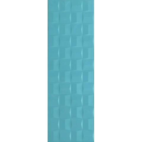 POTTERY TURQUOISE STRUTT. CUBE 3D 25X76 MARAZZI