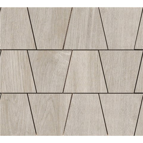 WOODLIVING MOSAICO ROVERE FUMO 33x30 RAGNO