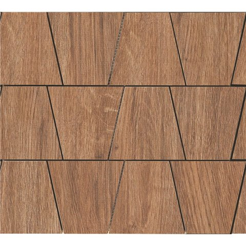 WOODLIVING MOSAICO ROVERE SCURO 33x30 RAGNO