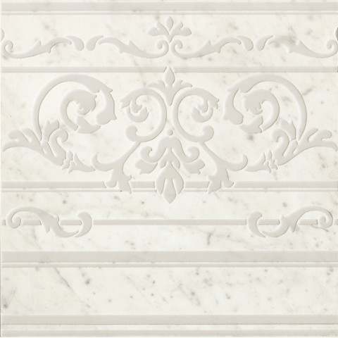 ROMA DIAMOND CARPET CARRARA BORDER INS. 60X60 RECTIFIÉ FAP CERAMICHE