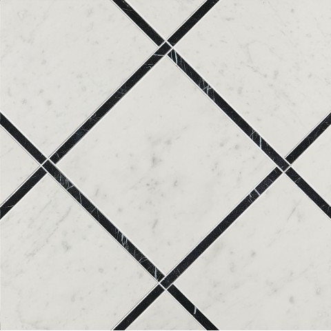 ROMA DIAMOND INCROCI CARRARA NERO REALE INS. 60X60 RECTIFIÉ FAP CERAMICHE