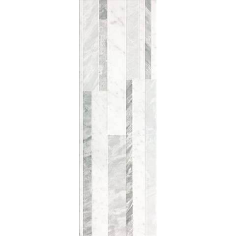 ROMA DIAMOND 25 DECO WHITE BRILLANTE 25X75 FAP CERAMICHE