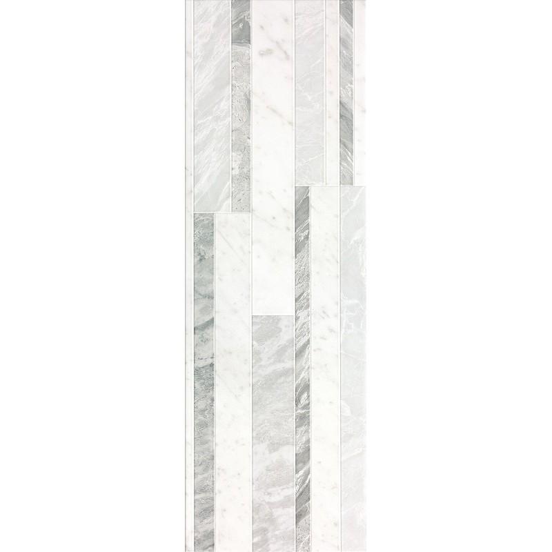 ROMA DIAMOND 25 DECO WHITE BRILLANTE 25X75 FAP CERAMICHE