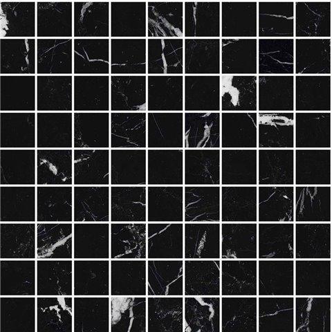 ALLMARBLE ELEGANT BLACK MOSAICO LUX 30X30 MARAZZI