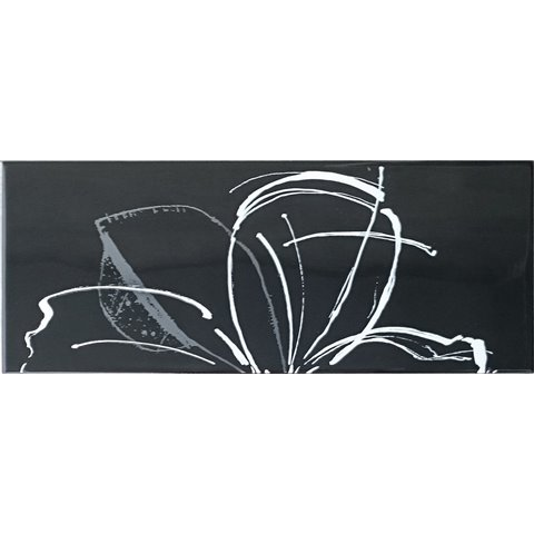 LINEUP INS. DAISY BLACK A+B 20x50 PAUL CERAMICHE