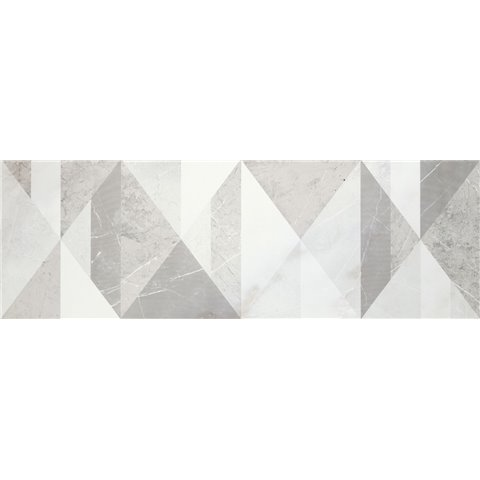 EVOLUTIONMARBLE WHITE RHINO DEC TANGRAM 32,5X97,7 MARAZZI