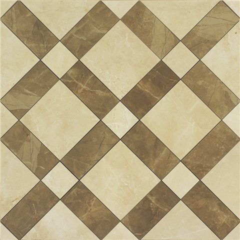 EVOLUTIONMARBLE DECORO BRONZO AMANI - GOLDEN CREAM 60X60 LUX MARAZZI