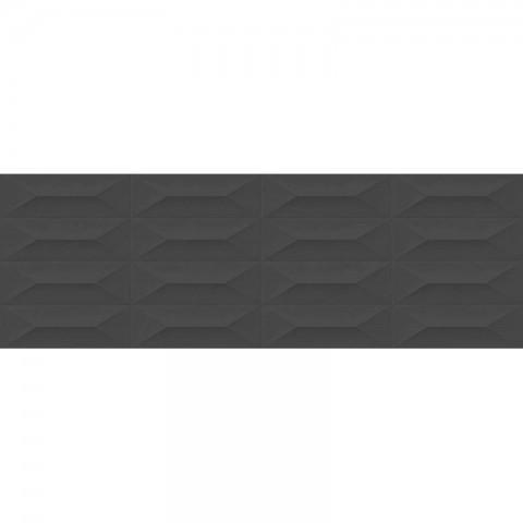 COLORPLAY ANTHRACITE STRUCTURE CABOCHON 3D 30X90 MARAZZI