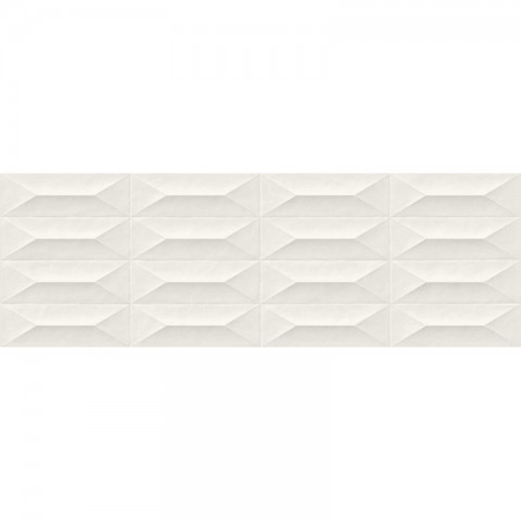 COLORPLAY WHITE STRUCTURE CABOCHON 3D 30X90 MARAZZI