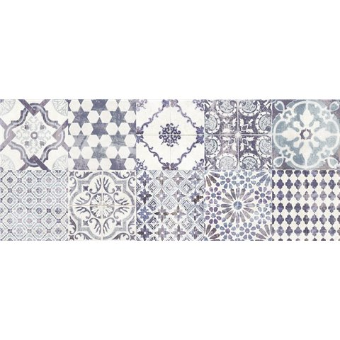 MADISON COUNTY WHITE/BLU 25X60 PAUL CERAMICHE