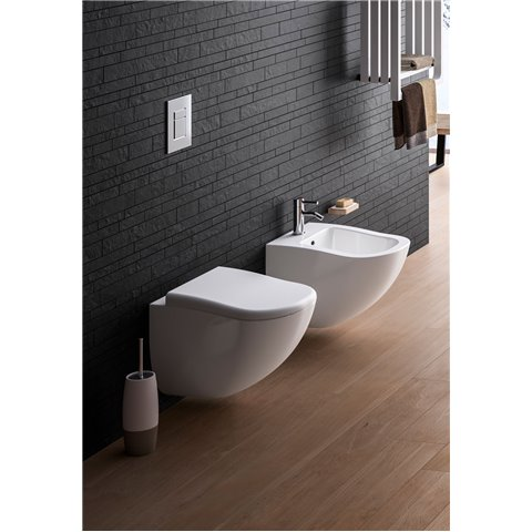 FLUID SET VASO C/COPRIVASO SOFT CLOSE + BIDET SOSPESO