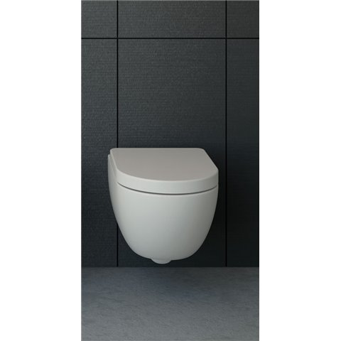 ENJOY 48 WC SUSPENDU SANS BRIDE AVEC ABATTANT SLIM SOFTCLOSE SANITARI CIELO