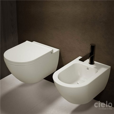 ENJOY SET VASO S/BRIDA C/COPRIVASO SLIM SOFT CLOSE + BIDET SOSPESI