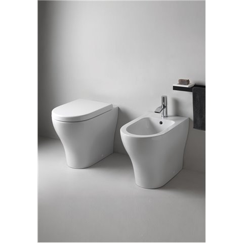 ENJOY SET WC à POSER AVEC ABATTANT SLIM SOFT CLOSE + BIDET SANITARI CIELO