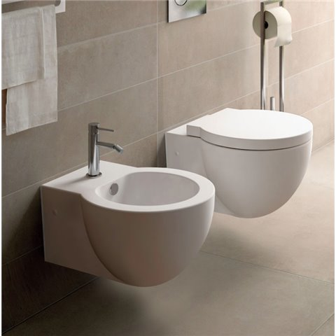 EASY EVO SET WC AVEC ABATTANT SOFTCLOSE+ BIDET SUSPENDU SANITARI CIELO
