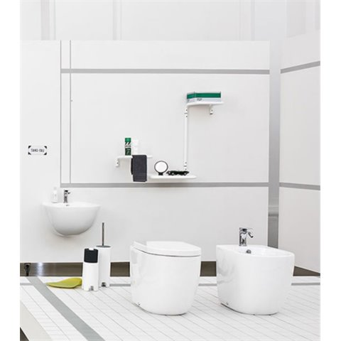 FILE 2.0 SET WC S/BRIDE AVEC ABATTANT SLIM SOFT CLOSE + BIDET A TERRE ARTCERAM SRL