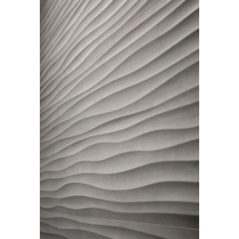 MATERIKA STR WAVE 3D ANTRACITE 40X120 RECTIFIÉ MARAZZI