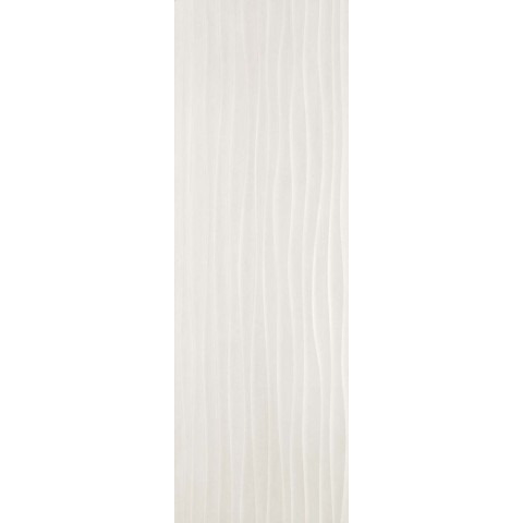 MATERIKA STR WAVE 3D OFF WHITE 40X120 RECTIFIÉ MARAZZI