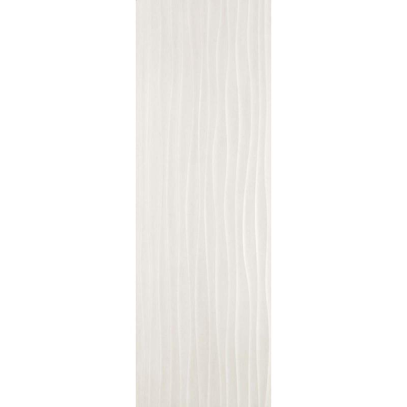 MATERIKA STR WAVE 3D OFF WHITE 40X120 RECTIFIÉ MARAZZI